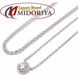 Star jewelry STAR JEWELRY necklace diamond 0.10ct 1P K18WG white gold pendant /091069