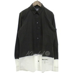DOLCE & GABBANA reshuffling long sleeves cotton shirt gray X white size: 15 3/4 (dolce and Gabbana)