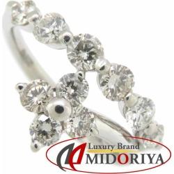 Diamond ring Pt900 diamond 1.00ct 11 platinum ring Lady's jewelry /63518
