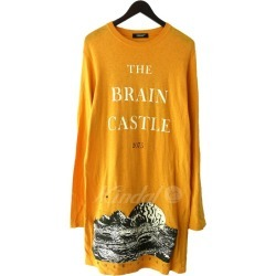 "UNDER COVER 18SS ""long length LSTEE BRAIN CASTLE"" Longus Reeve T-shirt dress orange size: 1 (under cover)"