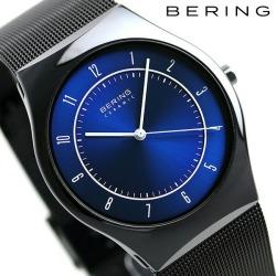 Bering men watch ultra slim ceramic 39mm 32,039-440 BERING blue X black clock