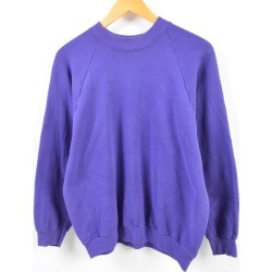 Lady's L /wbe8485 in the 90s made in Fruit of the Loom FRUIT OF THE LOOM plain fabric sweat shirt trainer USA