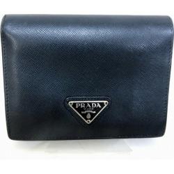 Prada PRADA サフィアーノレザー M668A black wallet folio wallet Lady's ★★ found on Bargain Bro India from Rakuten Global for $84.00