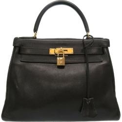 Black 0050 HERMES with the sewing ヴォーガリバーブラックゴールド metal fittings 0 Z carved seal handbag bag strike in Hermes Kelly 28