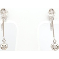 PT900 platinum earrings diamond used jewelry ★★ giftwrapping for free