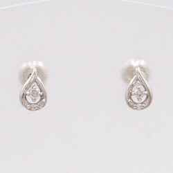 4 degrees Celsius K18WG pierced earrings diamond used jewelry ★★ giftwrapping for free