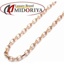 Chain necklace K18PG 60cm 6 grams pink gold jewelry /72237