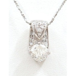 PT900 platinum PT850 necklace diamond 1.079 0.16 appraisal used jewelry ★★ giftwrapping for free