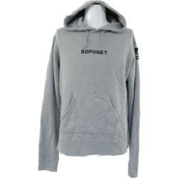 ソフネット GREGORY SWEAT HOODY, sweat shirt parka tops Gregory 18SS/180181/S/ gray X black /SOPHNET ■ 282295