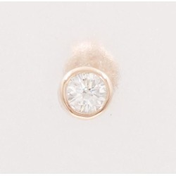 Canal 4 degrees Celsius K10PG pierced earrings (one ear) diamond used jewelry ★★ giftwrapping for free