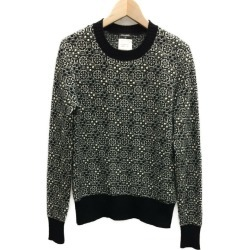 It is シャネルグリポワ embroidery cashmere knit Lady's SIZE 36 (S) CHANEL until - 9/3 23:59 at 9/2 18:00