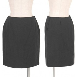 (SALE) PRADA batting side zip wool skirt