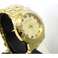 MARC BY MARC JACOBS mark by mark Jacobs watch MBM3141 gold multicolored rhinestone quartz analog three stitches Lady's watch Higashiosaka store 339305 RY1435