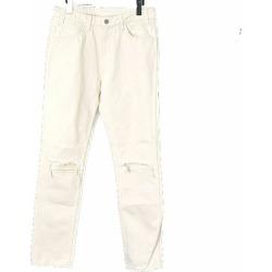 UNUSED アンユーズド 14AW 13.5oz denim five pockets two holes knees pants knee crash denim underwear men ivory 2