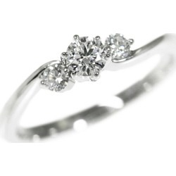 Royal Usher 3P, diamond (engage marriage), diamond ring, ring /Pt950-2.8g/0.15ct/0.08ct/ differentiation memo /8 /#48/ platinum color /ROYAL ASSCHER ■ 283050