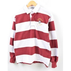 Men M /wbg3725 made in barbarian BARBARIAN horizontal stripes long sleeves rugby shirt Canada