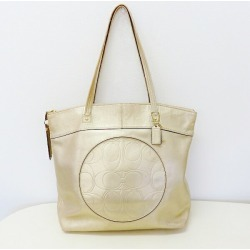 Coach COACH laura signature F18336 leather gold bag shoulder bag Lady's ★★ found on Bargain Bro India from Rakuten Global for $65.00