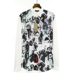 COMME des GARCONS HOMME PLUS コムデギャルソンオムプリュス X jonathan Meese 19AW art print polyester long sleeves shirt white L men