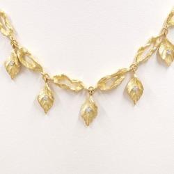 Koji Iwakura PT900 K18YG necklace diamond 0.15 used jewelry ★★ giftwrapping for free