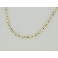 Cartier Cartier diamond (about 9ct) tennis necklace 750 K18 YG yellow gold Lady's 30891201