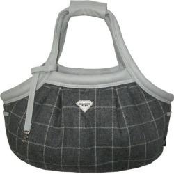 Diamond Baby (diamond baby) marshmallow easy carrier bag tweed check wool gray (L)