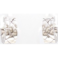 Chanel matelasse K18WG pierced earrings metal box used jewelry ★★ giftwrapping for free