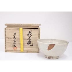 萩焼守繁栄徹造茶碗 [Japanese dishes / Matcha porcelain bowl / Matcha bowl / tea ceremony / tea set / tea service set / curio / tea]