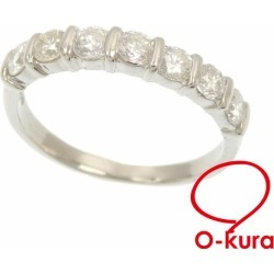Diamond ring Lady's Pt900 14 0.70ctz 4.0 g platinum diagram ring deep-discount pawnshop exemption from taxation A2177679