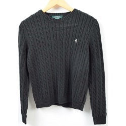 Ralph Lauren Ralph Lauren LAUREN Lauren cable knitting cotton knit sweater Lady's M /wbc8778