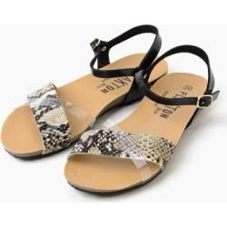 PLAKTON clear belt sander Lulu cool buran shoes