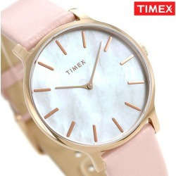 Timex watch Lady's TW2T35300 TIMEX clock Trang cent 38mm white shell X pink