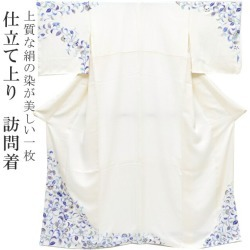 High-quality visiting dress dyeing China sewing Vietnam Seven-Five-Three Festival omiyamairi large size model size spo7804-iknb250 of cloth for visiting dress kimono newly made pure silk fabrics silk party wedding ceremony crepe Japan