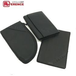 PICARD Picard card case one key case one three points set key case leather black men