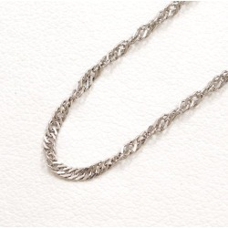 Two PT850 platinum necklace metal approximately 2.2 g approximately 40cm Kihei Kihei double screw used jewelry ★★ giftwrapping for free