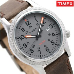 Timex watch Allied Corp. LT men TW2T33300 TIMEX clock gray X brown