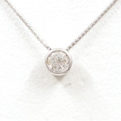 K18 18-karat gold WG white gold necklace diamond 0.15 used jewelry ★★ giftwrapping for free