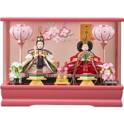 The Dolls' Festival fn-40 Doll's Festival of the Kotono bean Imperial prince decoration 42cm in width coloring LC coating peach (with the music box) pink with doll Imperial prince case