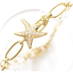 Tiffany star fish K18YG bracelet diamond used jewelry ★★ giftwrapping for free