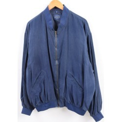 DISTANCE silk blouson Lady's adjustable size men XXL /wbi1582
