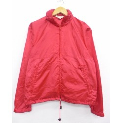 Old clothes Lady's long sleeves brand nylon jacket 90s L.L. Bean LLBEAN red red used outer windbreaker I show cute clothes winter clothing winter clothes casual lady's fashion fashion in the fall and winter in autumn for autumn