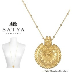 "SS ◎ yoga jewelry ★ [SATYA JEWELRY] mandala necklace gold ★ Gold Mandala Necklace サティア yoga jewelry accessories gold 18k 18-karat gold plating 90cm long necklace mandala Lady's 80621 ""TR"""