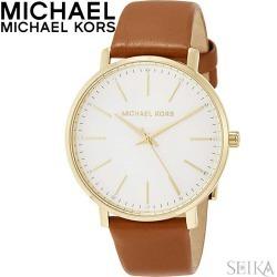 Michael Kors MICHAEL KORS MK2740 clock watch Lady's brown leather