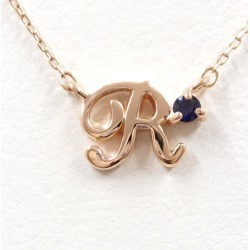 4 degrees Celsius K10PG necklace sapphire used jewelry ★★ giftwrapping for free