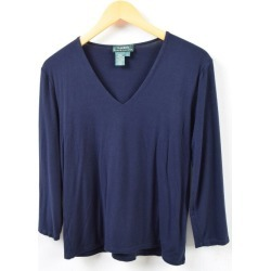 Ralph Lauren Ralph Lauren LAUREN Lauren V neck three-quarter sleeves cut-and-sew Lady's L /wbb4991