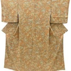 Crepe place flowers and birds design fine pattern kimono sect sou