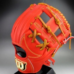 Right-handed Wilson staff dual WTAHWSD6H(22)E orange for the Wilson general rigid infielder