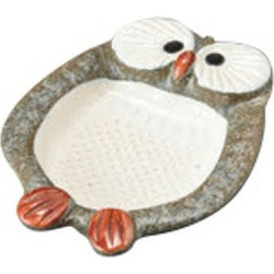 Owl blue オロシ plate [12.1 x 9.8 x 2.2cm] Japanese dishes spice is pretty; is for business use