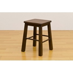 It includes the stool (work chair bench) wooden brushing processing harp dark brown postage!