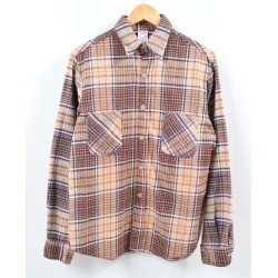 Men M vintage /wbh2959 in the 70s made in Jay sea penny J.C.Penney BIG MAC Big Mac checked pattern long sleeves heavy flannel shirt Portugal