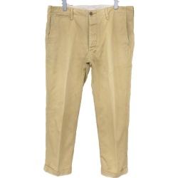 VISVIM HIGH-WATER CHINO chino pants khaki size: 3 (ビズビム)